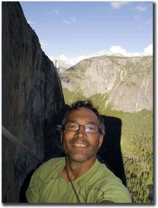 The happiest man in the world, Mark Hudon on El Cap.